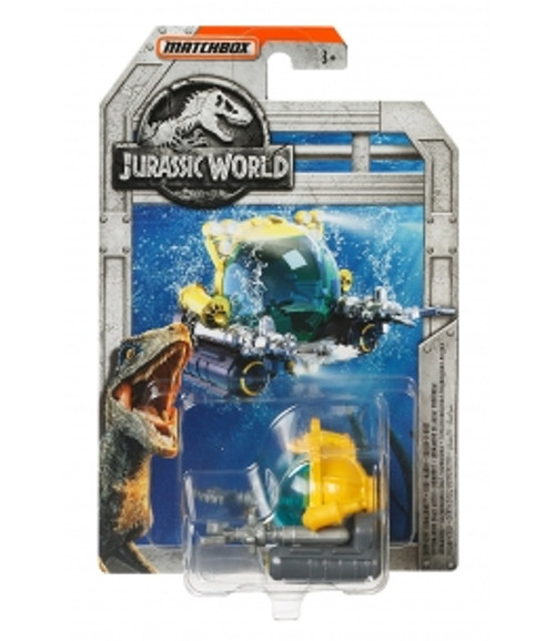 MATCHBOX JURASSIC WORLD DIECAST CAR - DEEP-DIVE SUBMARINE
