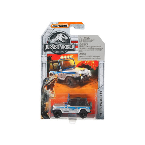 MATCHBOX JURASSIC WORLD DIECAST CAR - 93 JEEP WRANGLER #9