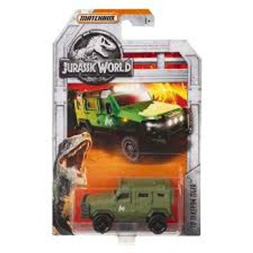 MATCHBOX JURASSIC WORLD DIECAST CAR - 10 TEXTRON TIGER GREEN