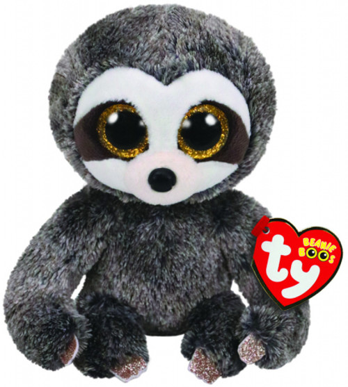 BEANIE BOOS REGULAR - DANGLER THE GREY SLOTH