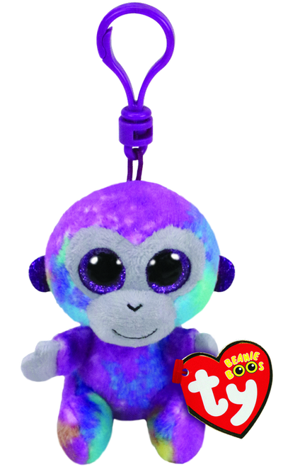 BEANIE BOOS CLIP ONS - ZURI THE MONKEY