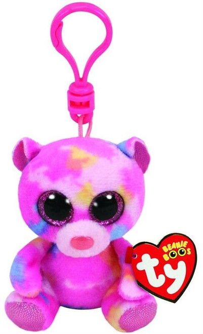 BEANIE BOOS CLIP ONS - FRANKY THE COLOURED BEAR