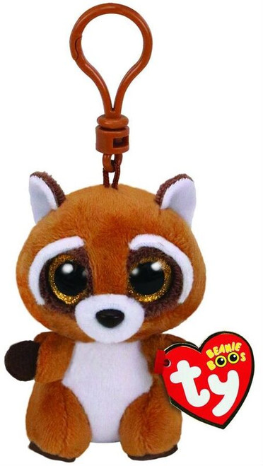 BEANIE BOOS CLIP ONS - RUSTY THE RACCOON