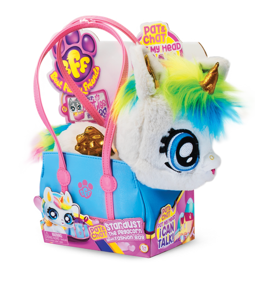 BFF PAT & CHAT STARDUST THE PEGACORN WITH FASHION BAG