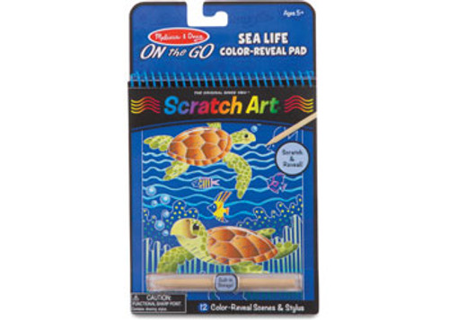 M&D ON THE GO - SCRATCH ART - SEALIFE