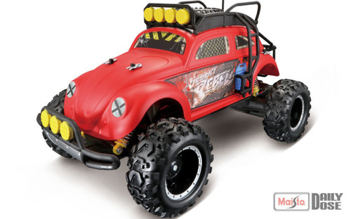 MAISTO TECH RC DESERT REBEL 1951 VW BEETLE - RED