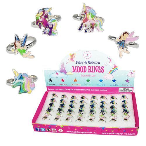 FAIRY & UNICORN MOOD RINGS