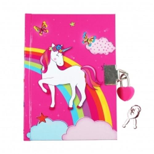 MAGICAL UNICORN DIARY - HOT PINK