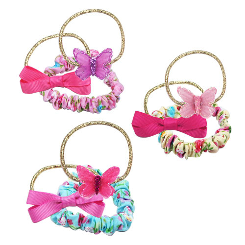BUTTERFLIES & FLORALS HAIR ELASTIC SET