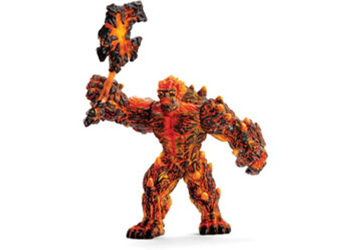 SCHLEICH - LAVA GOLEM WITH WEAPON
