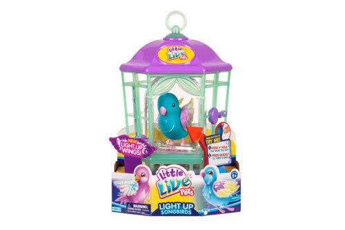 LITTLE LIVE PETS BIRD IN CAGE S8 - BLUE BIRD