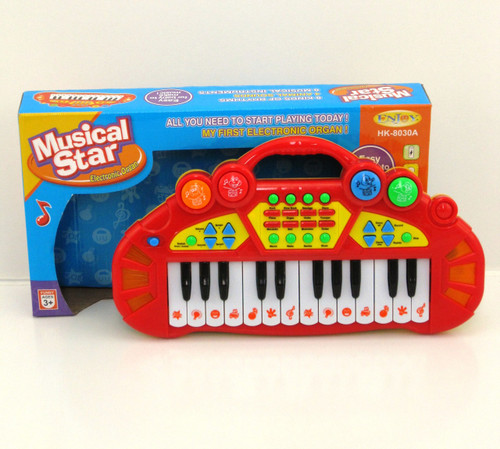 MUSICAL STAR LIGHT UP KEYBOARD - RED