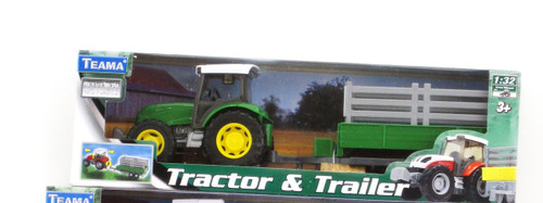 FARM TRACTOR - GREEN TRACTOR WITH CRATE