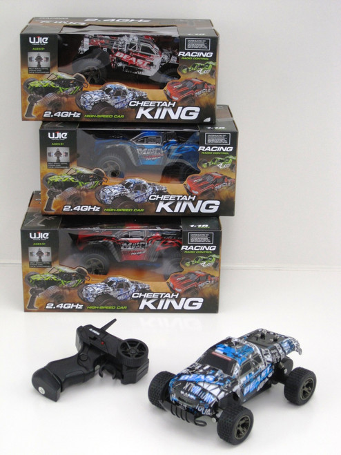 CHEETAH KING STUNT TRUCK 2.4GHZ - BLUE MUSCLE