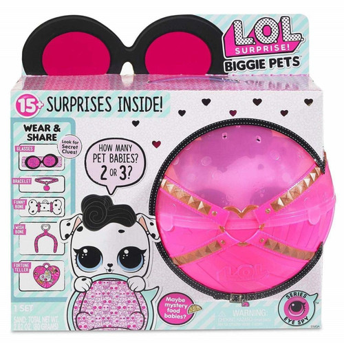 LOL SURPRISE BIGGIE PETS - HOT PINK BALL