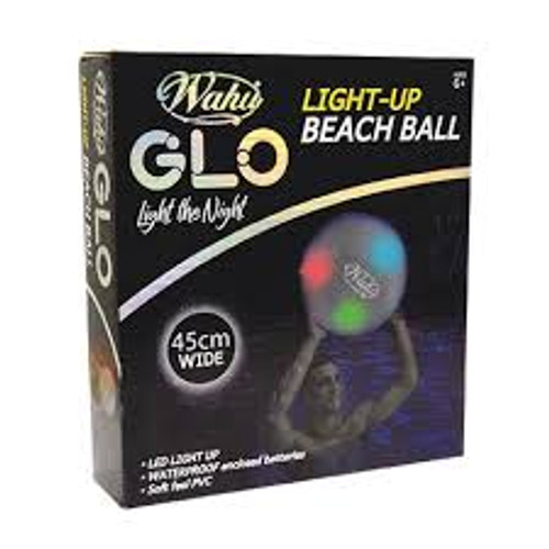 WAHU GLO-BALL (LIGHT-UP-BEACH BALL)