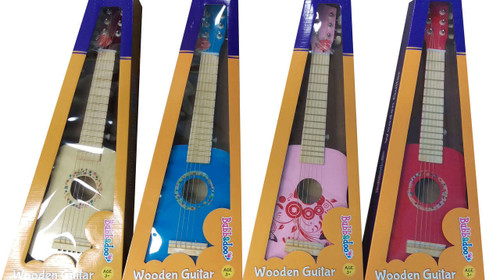 BUBBADOO WOODEN GUITAR - BLUE