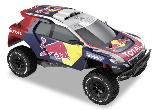 NIKKO 1:14 RED BULL PEUGEOT DAKHAR BUGGY WITH SOUNDS