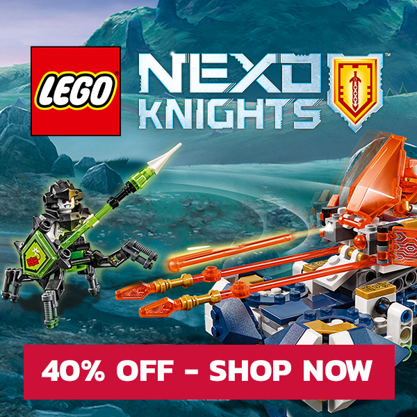 Call to action for LEGO Nexo Knights