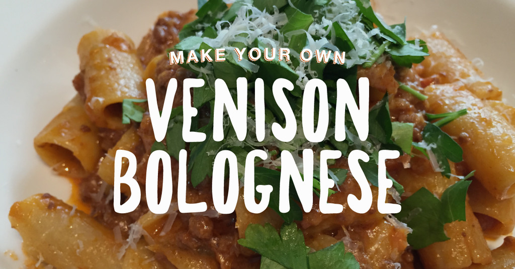 Venison Bolognese –Make a Large Batch and Vacuum Seal to Save