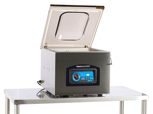 "VacMaster VP320 vacuum sealing machine features 16"" seal bar"
