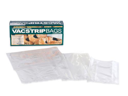 Pint, Quart, Gallon Vacuum Sealer Bags VacStrip 60 Pack CLOSE OUT