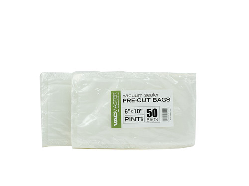 "Bulk - 6"" x 10"" Full Mesh Vacuum Seal Pint Bags - 50 Pack"