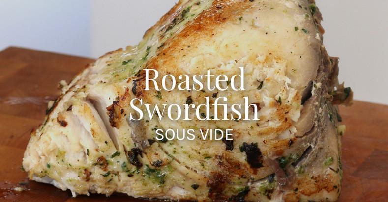 Swordfish Roast with Charred Jalapenos, Garlic & Lemon Recipe