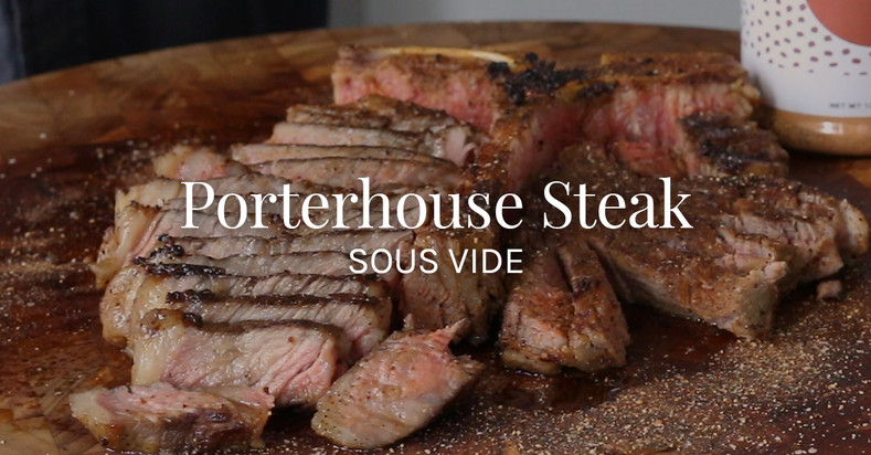 Porterhouse Steak with Wild Mushroom Rub and Steak Sauce Sous Vide Recipe