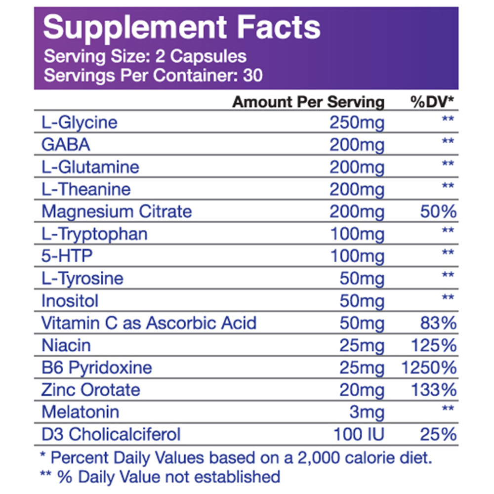Multi-Force PM Supplement Facts
