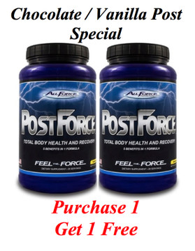 FREE Chocolate or Vanilla Post Workout with Purchase of one!