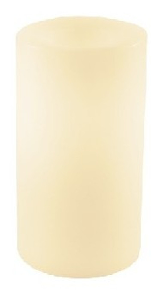 Round Flameless Real Wax Pillar Candles 6-Inch Champagne