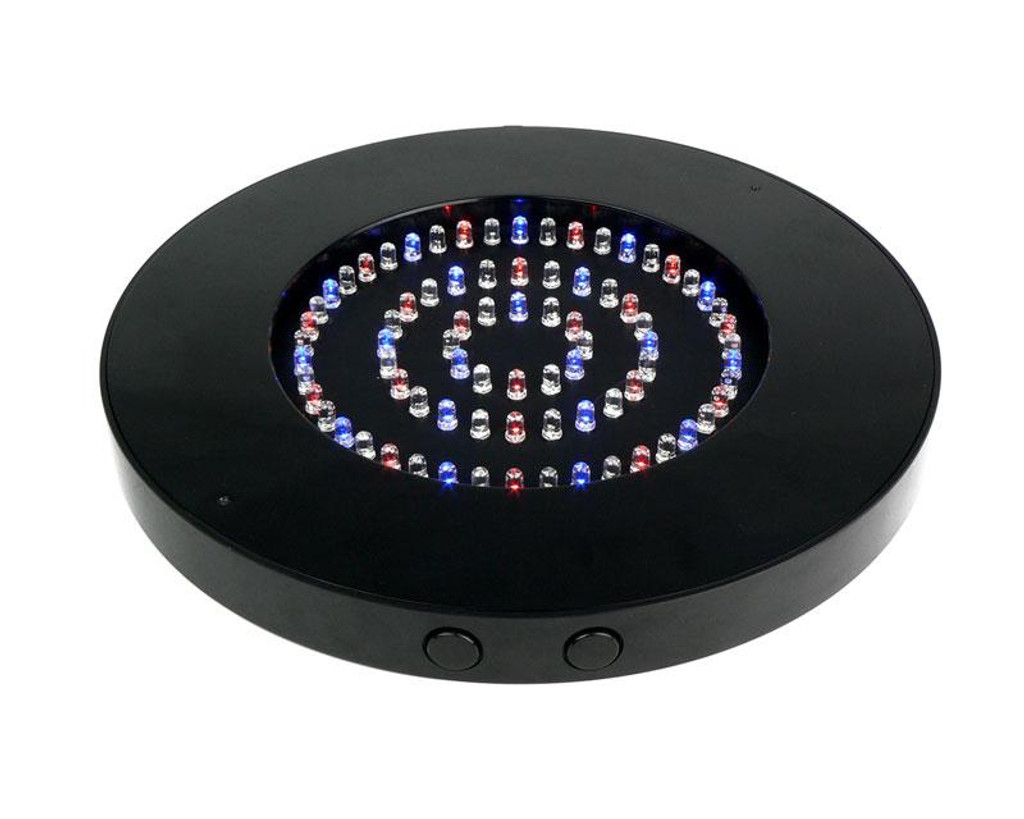 Multi Color LED Light Base for Centerpieces, Battery Operated,10 inch diameter, Black