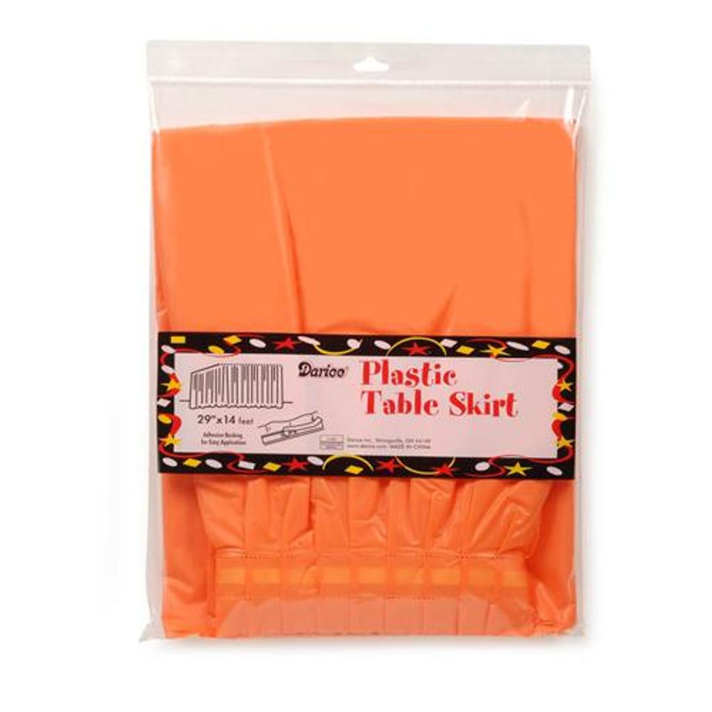 Plastic Table Skirts Orange