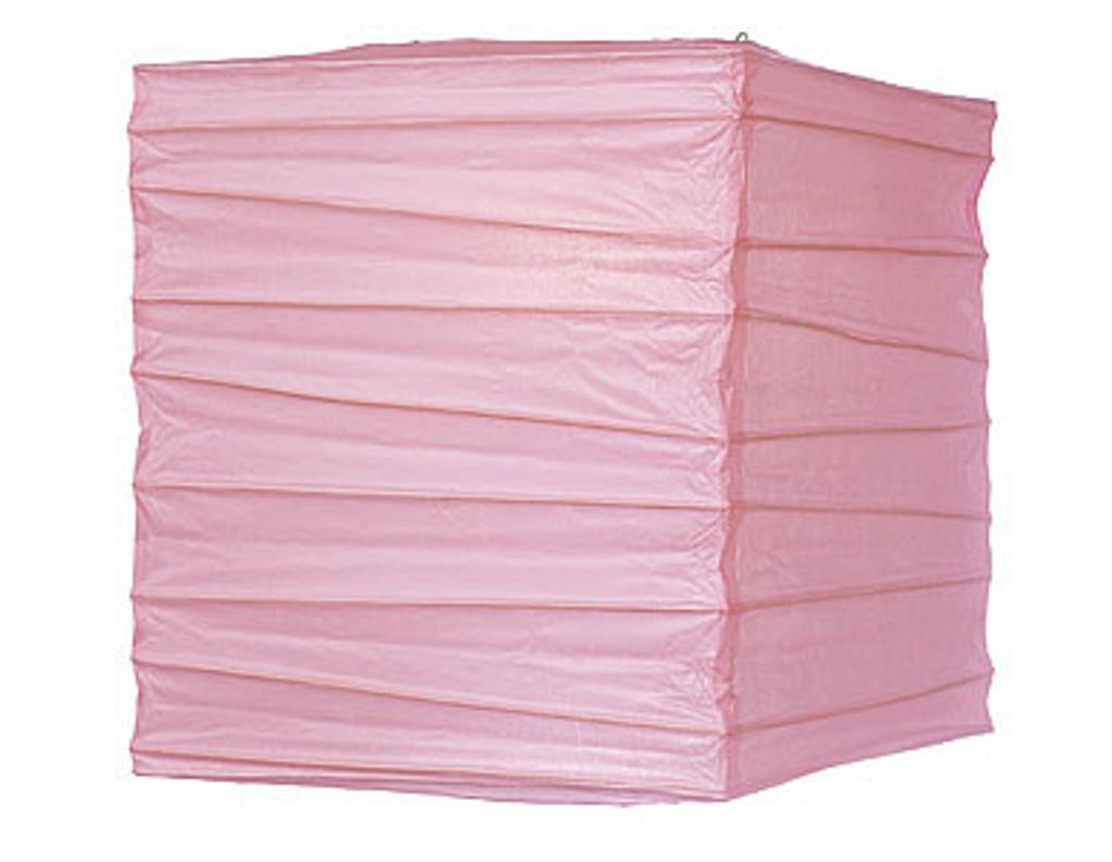 Premium Pink Square 10-Inch Paper Lantern
