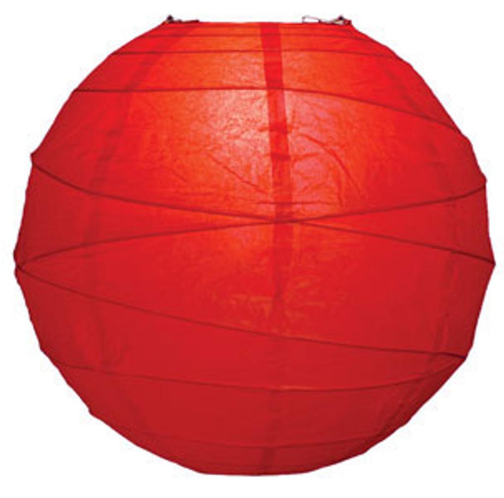 Premium Red 14-Inch Round Paper Lantern