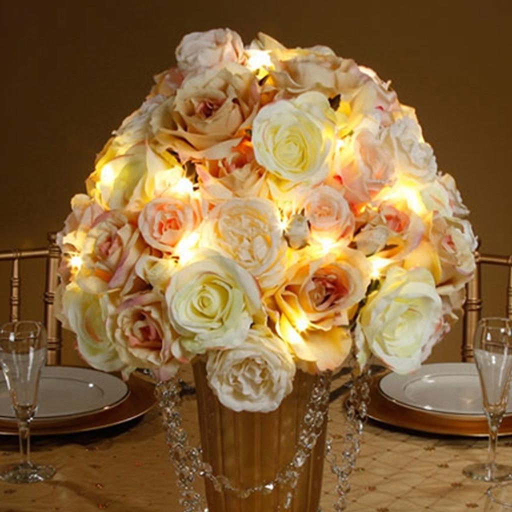 David Tutera Bridal Lights 4.2 ft. Silver Wire 12 Lights