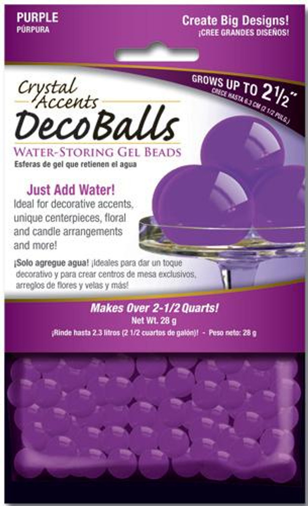Crystal Accents Deco Balls 1 oz Retail Pack Purple
