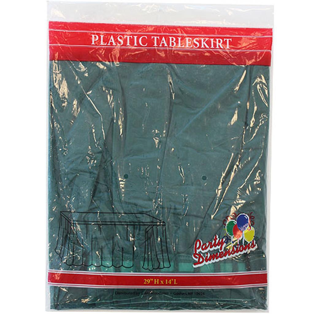 Plastic Table Skirts Hunter Green