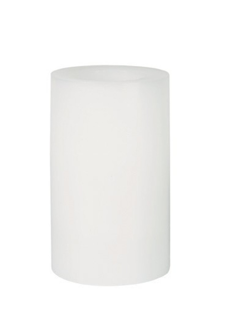 Round Wax Covered Plastic Pillar 5-Inch White