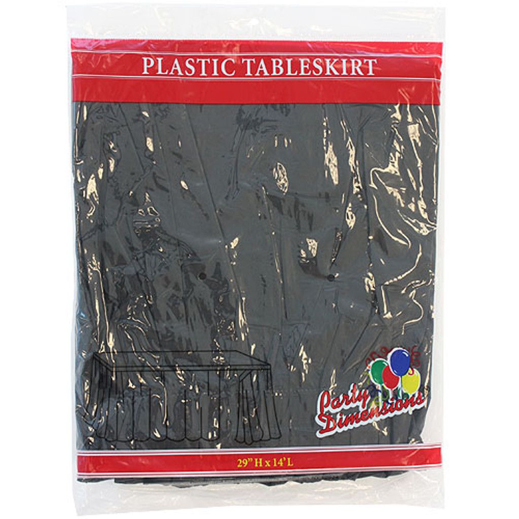 Plastic Table Skirts Black