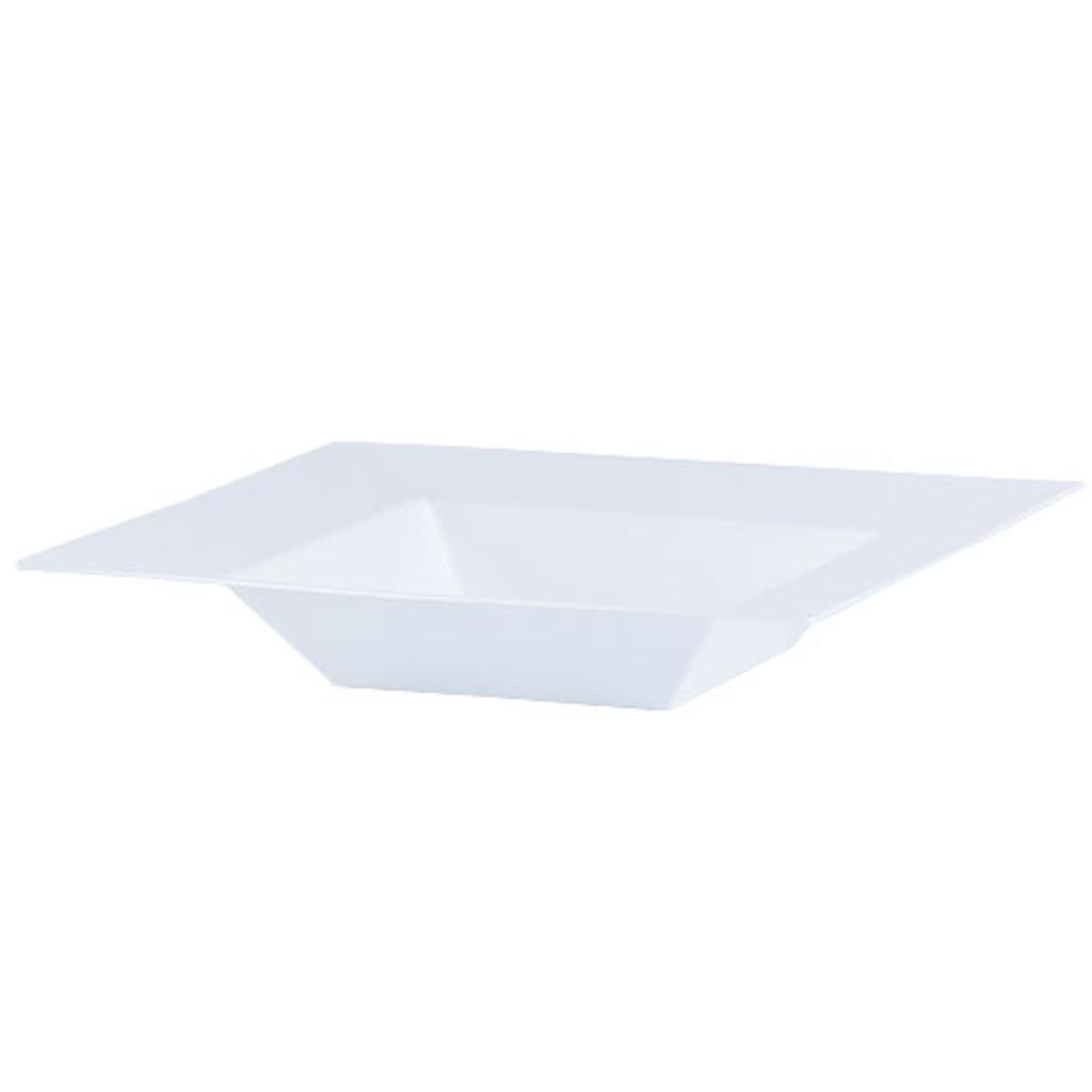 Plastic Squares 12 oz Bowl White - 10 Ct.