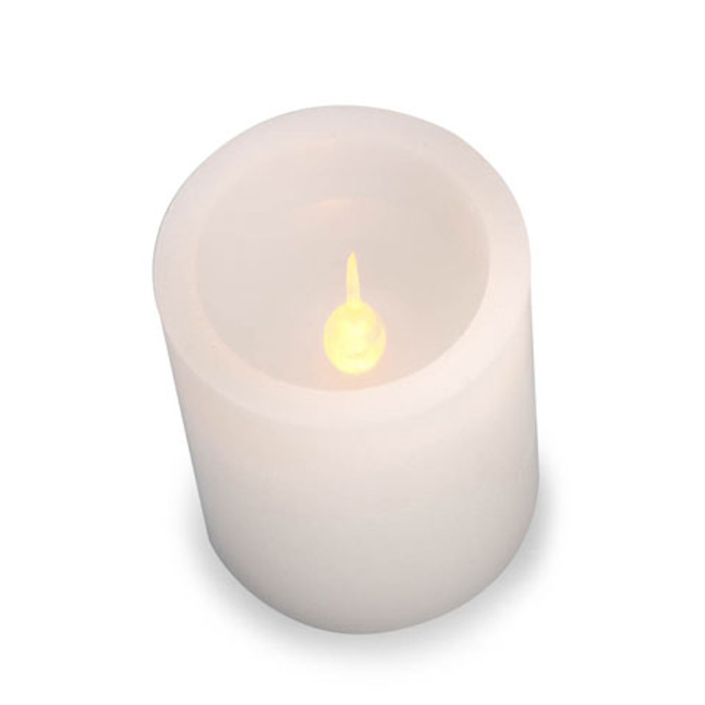 White Wax Pillar Candle 6 inch Multi Color