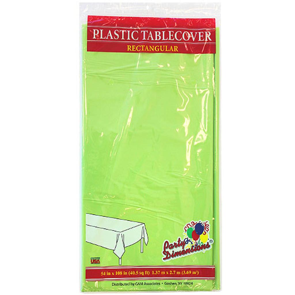 "Plastic Rectangular TableCovers 54"" x 108"" - 24 colors"