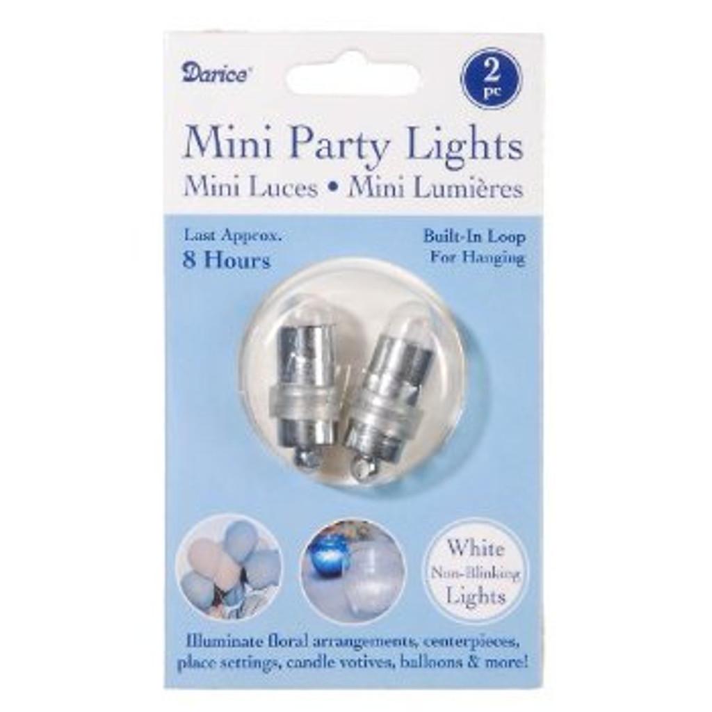 Mini Party Lites, 2-Pack, Non-Blinking, White