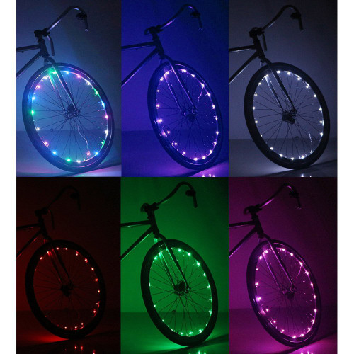 multi color led bike wheel lights