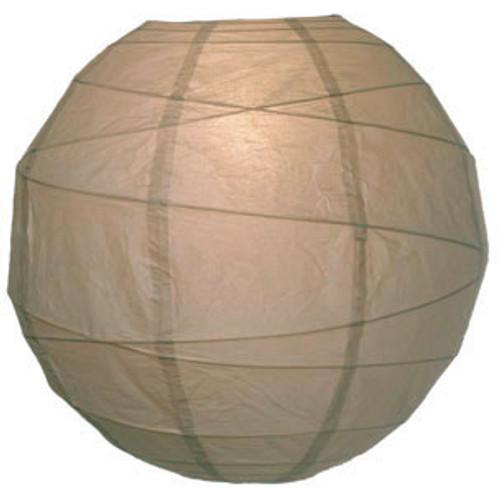 Premium Latte 14-Inch Round Paper Lantern