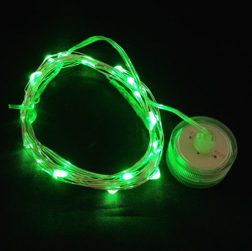 Toronado - 20 Green LEDs on 9' Memory Wire - Submersible