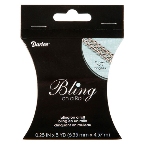 Silver Mesh Bling on a Roll - 2 Row - 3mm x 5 yard