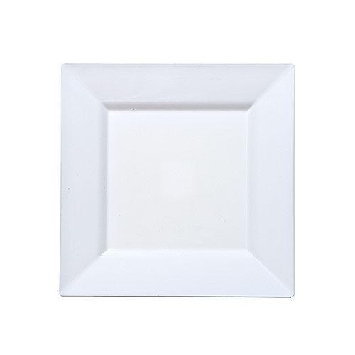 Plastic Squares 6.5-inch White Plates - 10ct.